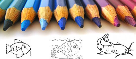 Színezzünk! Letölthető halacskás kifestő